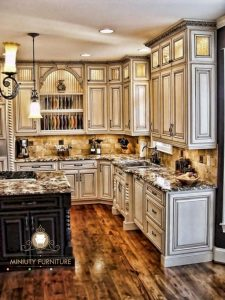 model kitchen set klasik modern kayu