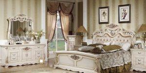 model set kamar tidur mewah klasik duco putih