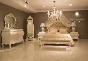 set kamar tidur klasik elegant putih
