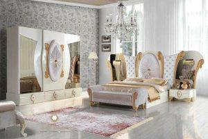 set kamar tidur mewah duco putih