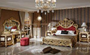 set kamar tidur ukir mewah modern