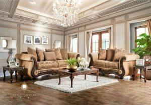 sofa tamu ukir simple mewah elegant