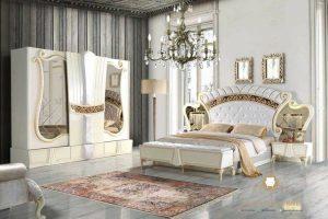 bedroom set mewah modern duco putih