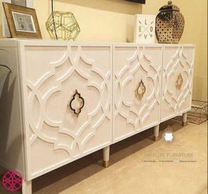 credenza kayu duco putih arabian