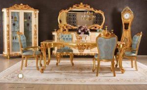 dining room set ukiran mewah modern model terbaru kayu jepara