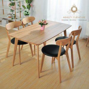 dining table minimalis kayu jati jepara