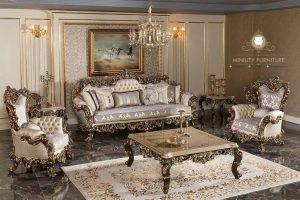 living room sofa ukir mewah luxury eropa