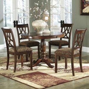 model meja makan bulat klasik kayu jati model terbaru