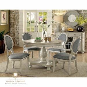model meja makan klasik duco putih modern terbaru