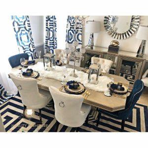 model meja makan mewah elegant modern terbaru