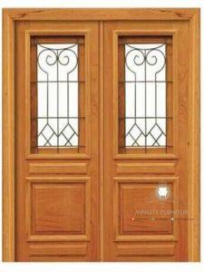model pintu rumah minimalis klasik kayu jati terbaru