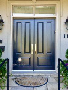 model pintu rumah minimalis kupu tarung kayu jati terbaru