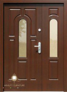 model pintu rumah minimalis modern kayu jati jepara