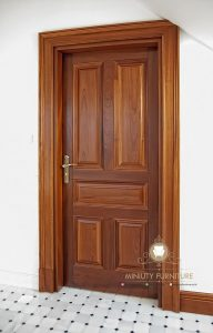 pintu kamar kayu jati model minimalis jepara
