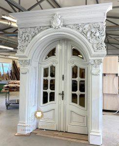 pintu rumah kupu tarung kayu jati super mewah ukiran modern