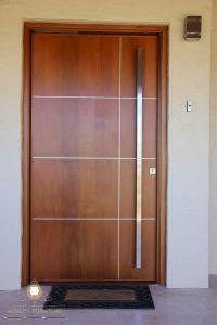 pintu rumah minimalis kayu model terbaru jepara