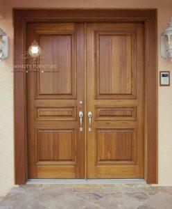 pintu rumah minimalis kupu tarung kayu jati jepara terbaru