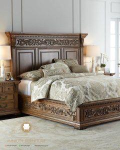 ranjang ukir kayu classic elegant