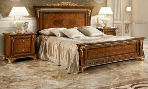 set kamar tidur kayu elegant modern terbaru eropa