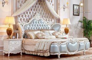 set kamar tidur mewah classic elegant ukiran kayu modern jepara