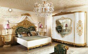 set kamar tidur ukiran mewah kayu model terbaru italia style