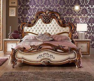 tempat tidur classic elegant ukiran mewah kayu jepara