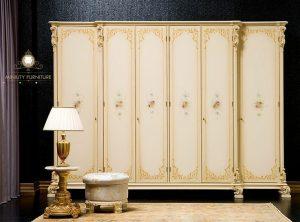 wardrobe duco putih modern kayu