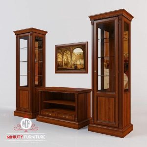 bufet tv dan lemari hias pajangan minimalis kayu jati jepara
