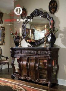 model meja konsul mewah elegant kayu terbaru eropa style