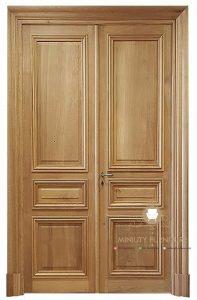 model pintu kupu tarung minimalis modern kayu jati