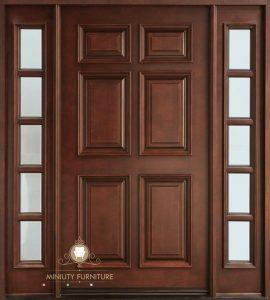 pintu rumah kupu tarung minimalis modern kayu jepara terbaru