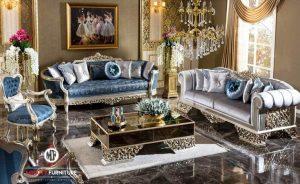 sofa living room ukir mewah elegant terbaru