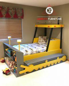 tempat tidur anak model mobil kayu terbaru jepara