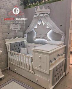 model box bayi minimalis modern warna putih terbaru