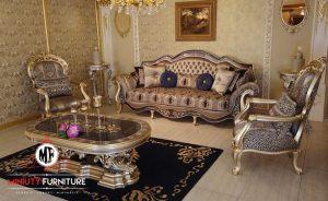 sofa ruang tamu sultan mewah elegant | miniuty furniture