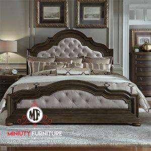 tempat tidur classic modern kayu jati terbaru