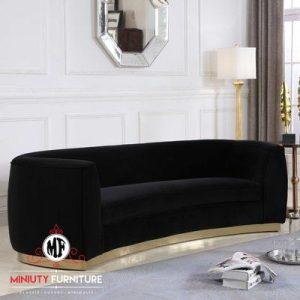 bangku sofa santai ruang keluarga oval