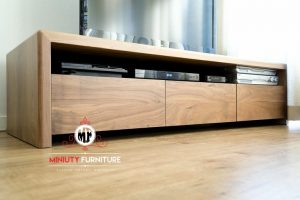bufet tv kayu jati minimalis laci simpel