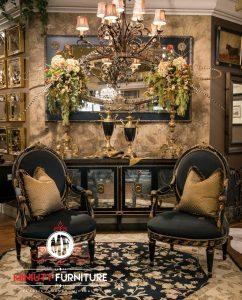 kursi santai classic elegant ruang keluarga