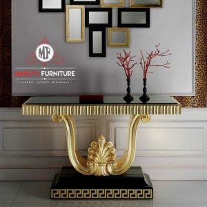 meja konsul ruang tamu elegant modern