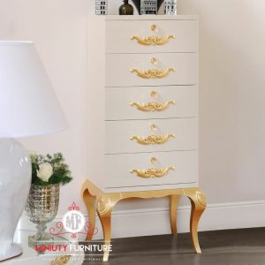 nakas laci putih minimalis classic jepara