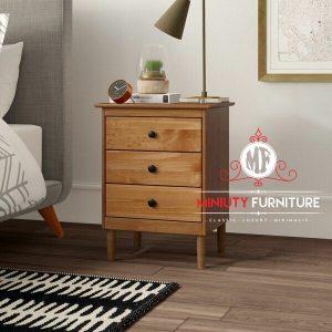 nakas tempat tidur minimalis laci kayu jati