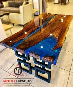 meja resin kayu classis modern jepara