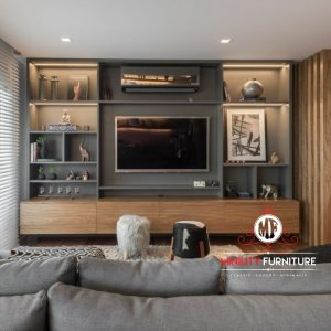 desain partisi tv hpl minimalis modern