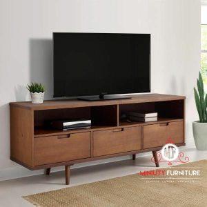 model bufet laci tv simpel kayu jati