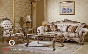 sofa ruang tamu keluarga ukir mewah modern