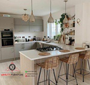 design kitchen dan minibar minimalis modern