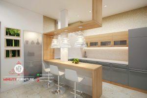 design kitchen minimalis modern hpl terbaru
