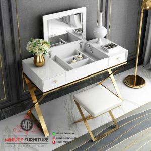 design meja rias putih mewah terbaru