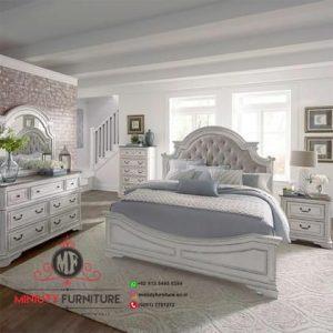 design kamar set putih model classic terbaru